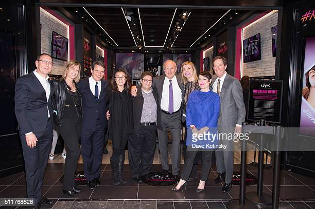 Vice President Retail Marketing NYX Cosmetics Kelly Coller Chairman and CEO of L'Oréal JeanPaul Agon Director of Events at NYX Cosmetics Natalie...