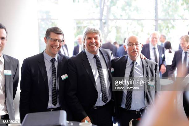 DFB vice president Ronny Zimmermann and delegates look on prior to the Extraordinary DFB Bundestag at Messe Frankfurt on December 8 2017 in Frankfurt...