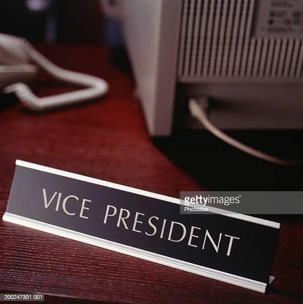 Vice president sign on desk
