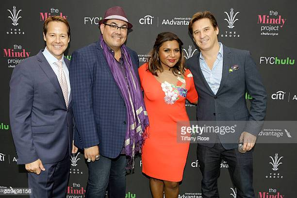Vice President Strategic Alliances and Entertainment at Caruso Affiliated Bill Cluverius Costume designer Salvador Perez actress Mindy Kaling and SVP...