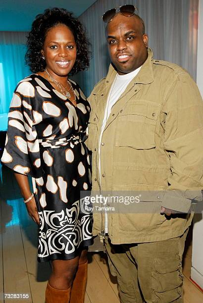 Vice President Writer Publisher Relations Catherine Brewton and recording artist Ceelo Green attend BMI's PreGrammy Party at the Mondrian Hotel...