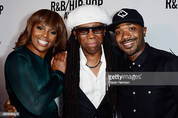 Vice President, Writer/Publisher Relations, Atlanta, Catherine Brewton, honoree Nile Rodgers and recording artist Ray J attend the 2015 BMI...