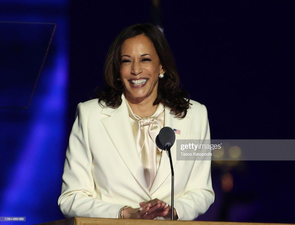 President-Elect Joe Biden And Vice President-Elect Kamala Harris Address The Nation After Election Win : ニュース写真