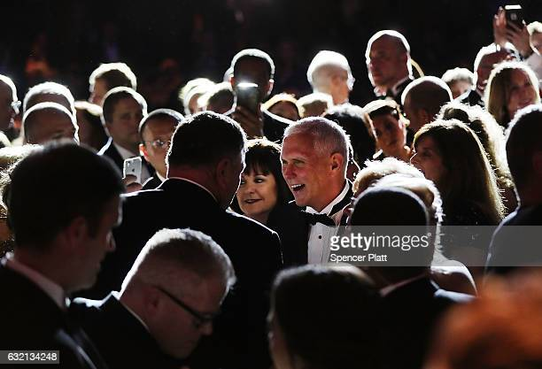 Vice President-elect Mike Pence and wife Karen Pence attend the Indiana Society Ball on January 19, 2017 in Washington, DC. Donald Trump will be...