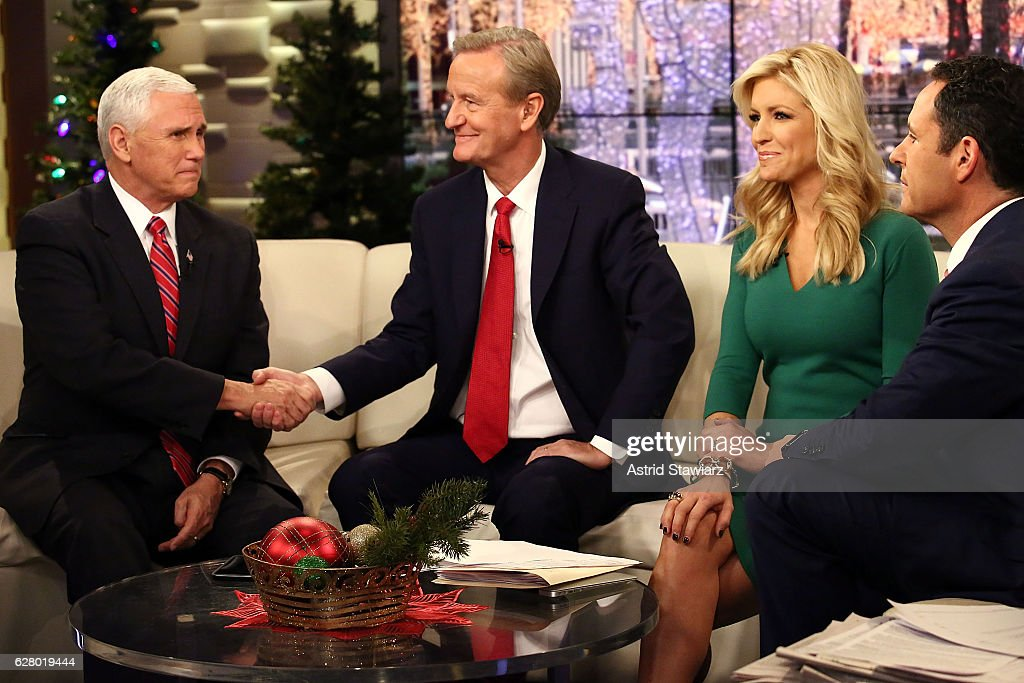 Vice President-Elect Mike Pence Visits 'Fox & Friends' : News Photo