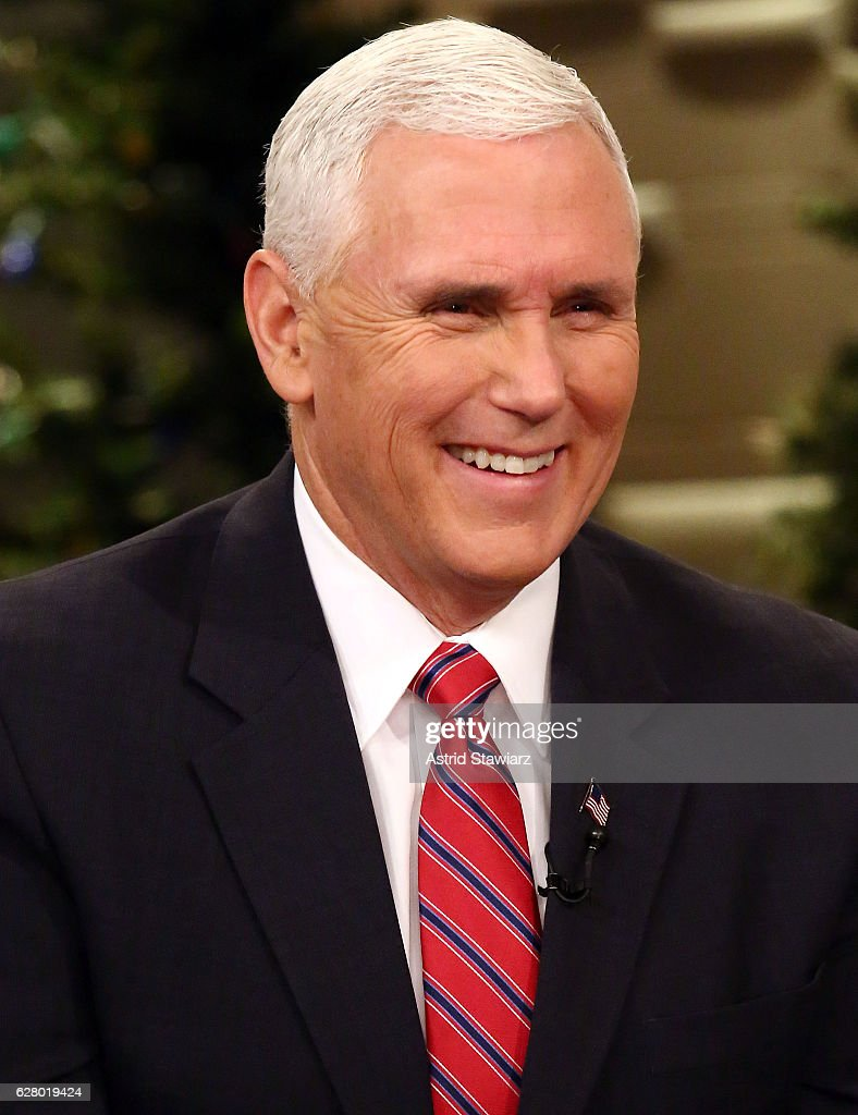 "Vice President-Elect Mike Pence Visits ""Fox & Friends"" : News Photo"