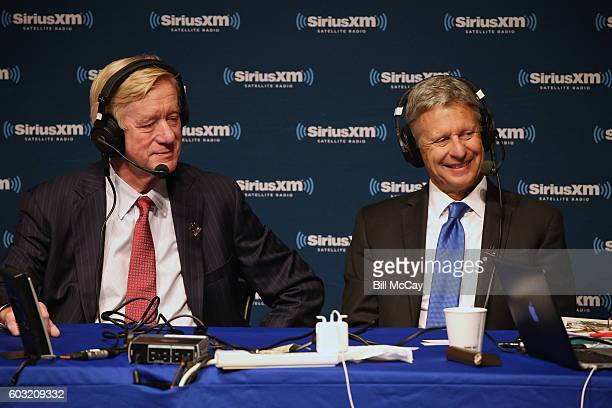Vice Presidential Candidate Governor William Weld and Presidential Candidate Governor Gary Johnson attend the SiriusXM Libertarian Presidential Forum...