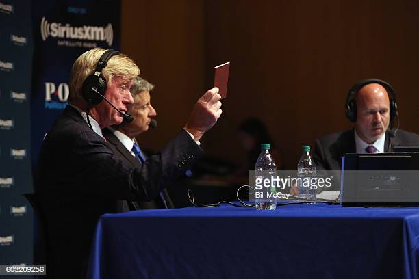 Vice Presidential Candidate Governor William Weld Presidential Candidate Governor Gary Johnson and Michael Smerconish attend the SiriusXM Libertarian...