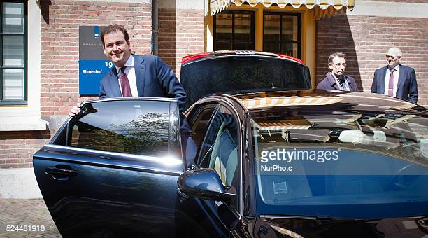 Vice Prime Minister Lodewijk Asscher is seen leaving the weekly ministers council in The Hague on Friday May 1st