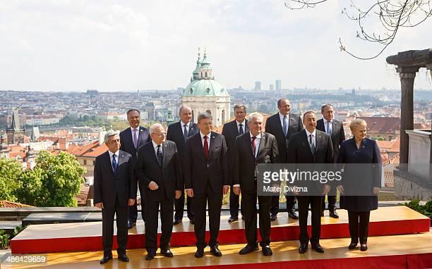 Vice Prime Minister of Sweden Jan Bjorklund, President of Moldova Nicolae Timofti, President of Poland Bronislaw Komorowski, President of Georgia...