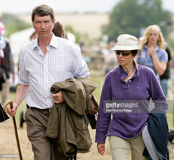 ViceAdmiral Timothy Laurence and Princess Anne The Princess Royal attend day 2 of the Festival of British Eventing at Gatcombe Park on August 7 2010...