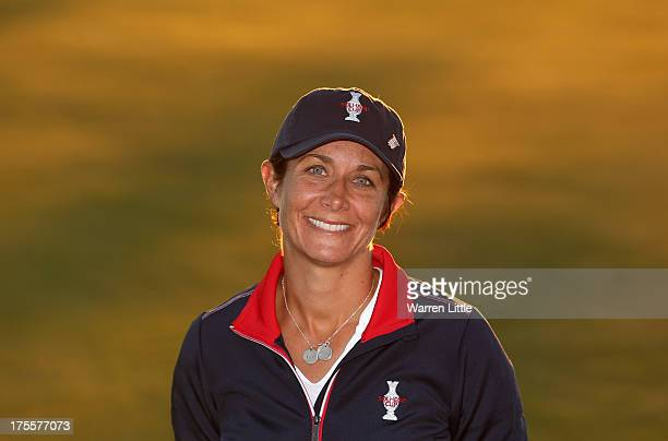 ViceCaptain Laura Diaz of the United States poses for a portrait following the announcement of the 2013 Solheim Cup Europe and USA Teams at The Old...