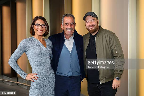 ViceCaptain of Europe Sam Torrance poses with his wife Suzanne Torrance and son Daniel Torrance before departing Heathrow Airport Terminal 5 ahead of...