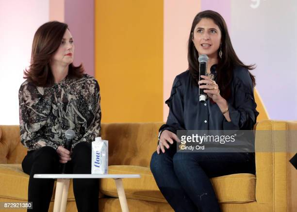 ViceChair Beth Comstock and EpiBone CEO Founder Nina Tandon speak onstage at Girlboss Rally Hosted By Sophia Amoruso's Girlboss on November 11 2017...
