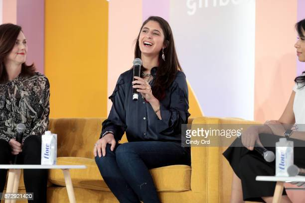 ViceChair Beth Comstock EpiBone CEO Founder Nina Tandon and Girlboss EditorinChief COO Neha Gandhi speak onstage at Girlboss Rally Hosted By Sophia...