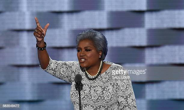 DNC ViceChair Donna Brazile speaks during Day 2 of the Democratic National Convention at the Wells Fargo Center in Philadelphia Pennsylvania July 26...