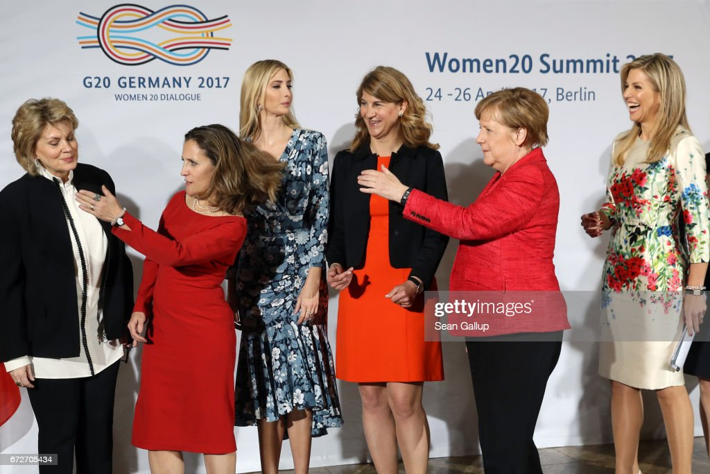 Ivanka Trump Attends W20 Conference In Berlin : Nieuwsfoto's