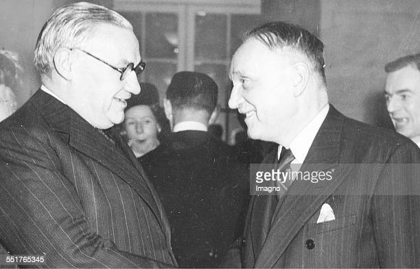 ViceChancellor Adolf Schärf at the first state treaty negotiations in London with British Foreign Secretary Ernest Bevin 1947 Photograph