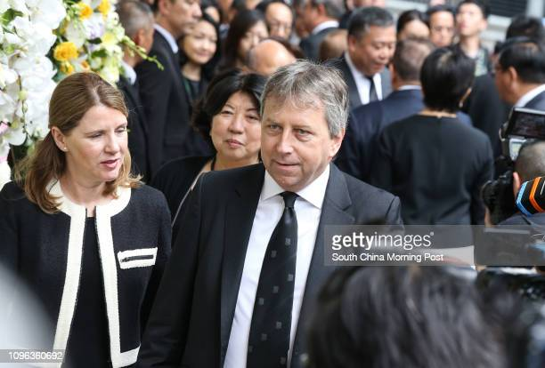Vicechancellor of University of Hong Kong Peter William Mathieson attends Dr Cheng YutungǃÙs funeral at Hong Kong Funeral Home in North Point...