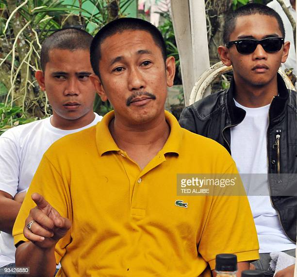 Vicemayor Esmael Mangudadatu speaks to members of the media prior to the funeral of his wife and four other relatives victims of massacre in Buluan...