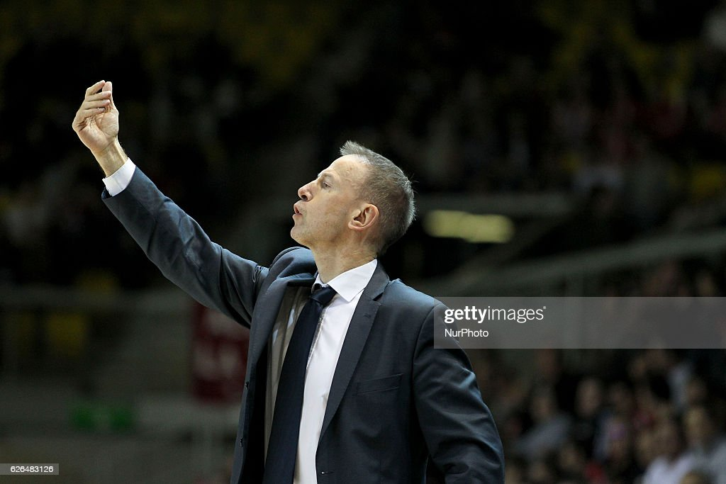 Vicent Collet, Manager Strasbourg SIG in action during SIG Strasbourg v KK Mornar Regular Season - Group D of Basketball Champions League in Strasbourg, France, on 29 November 2016.