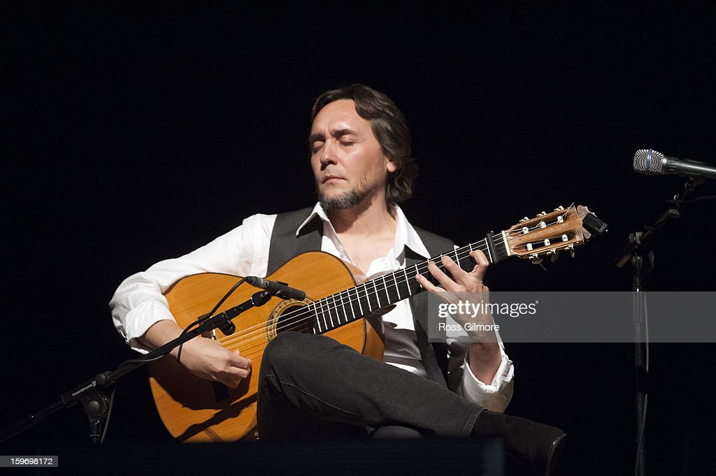 Vicente Amigo performs his world premiere performance of his new flamenco/Celtic project Tierra, on stage on Day 2 of The Celtic Connections Festival at Glasgow Royal Concert Hall on January 18, 2013 in Glasgow, United Kingdom.