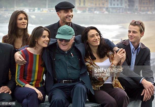 Vicente Aranda the Spanish director of the film Juana la Loca poses for photos 25 September 2001 during a photocall during the 49th San Sebastian...