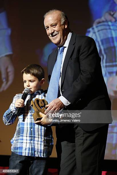 Vicente del Bosque attends the 'Pie Derecho' Music Awards 2013 at Callao cinema on December 12 2013 in Madrid Spain