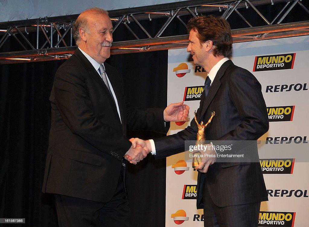 Vicente del Bosque (L) attends the Sport Annual Gala In Barcelona at palau de Congresos on February 11, 2013 in Barcelona, Spain.