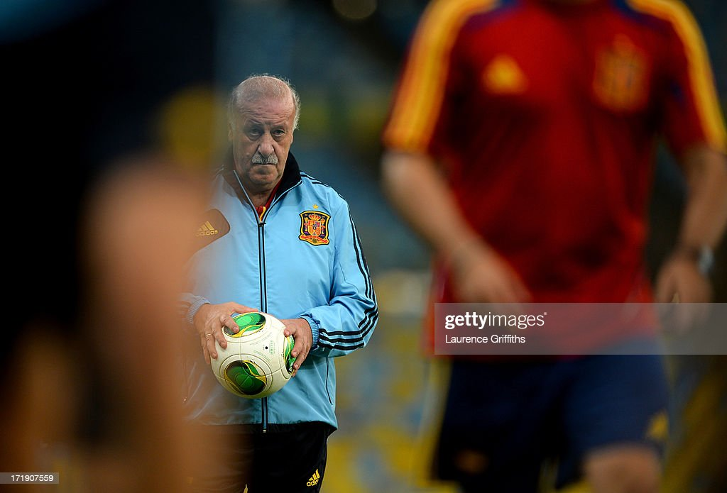 Spain Training & Press Conference - FIFA Confederations Cup Brazil