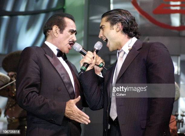 Vicente Fernandez and Alejandro Fernandez during 3rd Annual Latin GRAMMY Awards LARAS Person Of The Year Vicente Fernandez Dinner Show at Kodak...