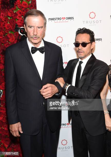 Vicente Fox and Marc Anthony attend the 2019 Maestro Cares Gala at Cipriani Wall Street on March 14 2019 in New York City