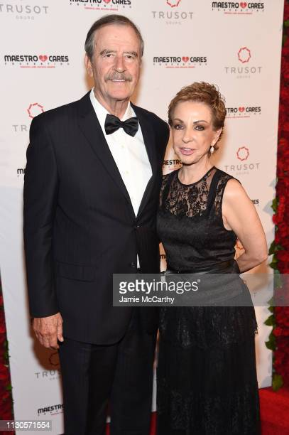 Vicente Fox and Marta Sahagún attend the 2019 Maestro Cares Gala at Cipriani Wall Street on March 14 2019 in New York City