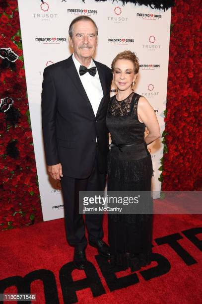 Vicente Fox and Marta Sahagún attends the 2019 Maestro Cares Gala at Cipriani Wall Street on March 14 2019 in New York City