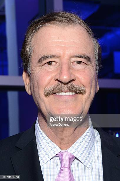 Vicente Fox attends the Pete Carroll President Vicente Fox And Sharon Stone Celebrate 10 Years Of Successful Gang Prevention And Intervention...