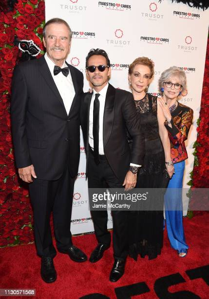 Vicente Fox Marc Anthony Marta Sahagún and Rita Moreno attend the 2019 Maestro Cares Gala at Cipriani Wall Street on March 14 2019 in New York City