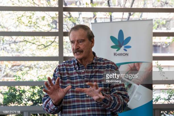 Vicente Fox Mexico's former president and strategic advisor for Khiron Life Sciences Corp speaks during an information session with investors in...