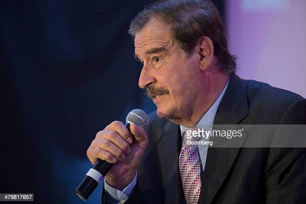 Vicente Fox Mexico's former president speaks at the Bloomberg Mexico Economic Summit in Mexico City Mexico on Thursday March 20 2014 A plethora of...