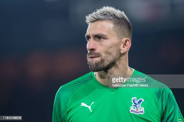 Vicente Guaita of Crystal Palace looks on during the Premier League match between Crystal Palace and Liverpool FC at Selhurst Park on November 23...