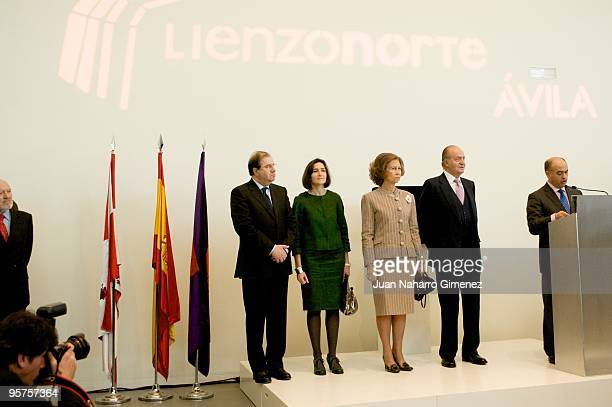 Vicente Herrera Angeles Gonzalez Sinde Queen Sofia of Spain and King Juan Carlos of Spain attend the inauguration of the Centro Municipal de...