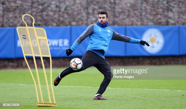 Vicente Iborra during the Leicester City training session at Belvoir Drive Training Complex on January 11th 2018 in Leicester United Kingdom