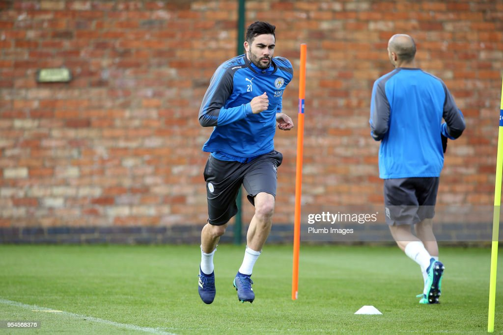 Vicente Iborra during the Leicester City training session at Belvoir Drive Training Complex on May 04 , 2018 in Leicester, United Kingdom.