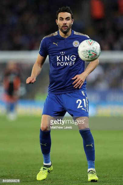 Vicente Iborra of Lecicester City in action during the Carabao Cup Third Round match between Leicester City and Liverpool at The King Power Stadium...