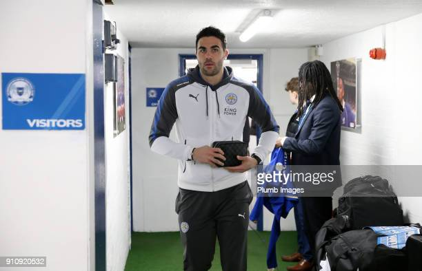Vicente Iborra of Leicester City arrives at ABAX Stadium ahead of The Emirates FA Cup Fourth Round tie between Peterborough United and Leicester City...