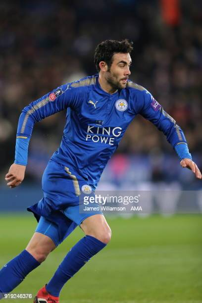 Vicente Iborra of Leicester City during the Emirates FA Cup Fifth Round match between Leicester City and Sheffield United at The King Power Stadium...