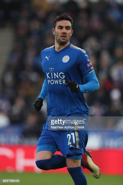 Vicente Iborra of Leicester City during the FA Cup Quarter Final match between Leicester City and Chelsea at The King Power Stadium on March 18 2018...