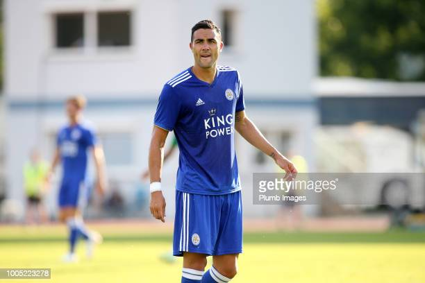Vicente Iborra of Leicester City during the preseason friendly match between Leicester City and Akhisarspor at Stadion Villach on July 25th 2018 in...
