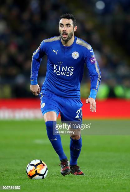 Vicente Iborra of Leicester City in action during the Emirates FA Cup third round replay match between Leicester City and Fleetwood Town at The King...