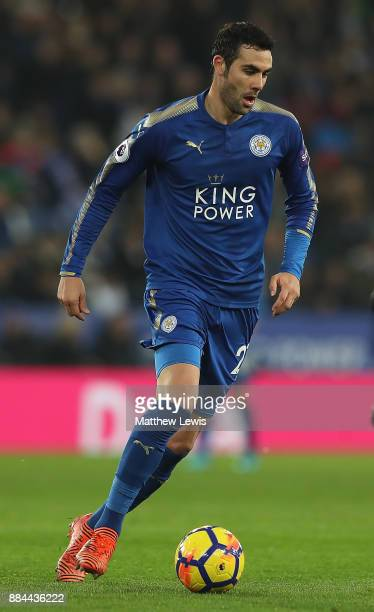 Vicente Iborra of Leicester City in action during the Premier League match between Leicester City and Burnley at The King Power Stadium on December 2...