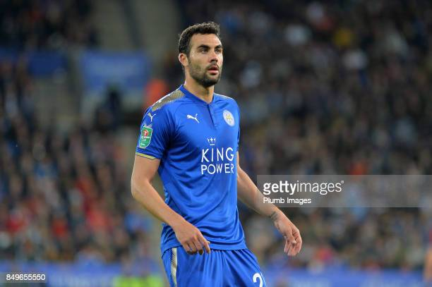 Vicente Iborra of Leicester City looks on during the Carabao Cup third round match between Leicester City and Liverpool at King Power Stadium on...
